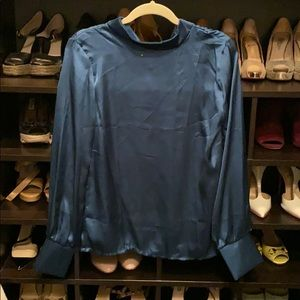 Teal Green silky top NEVER WORN